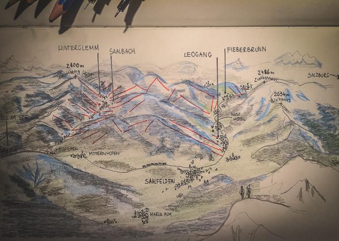 mapa saalfelden leogang