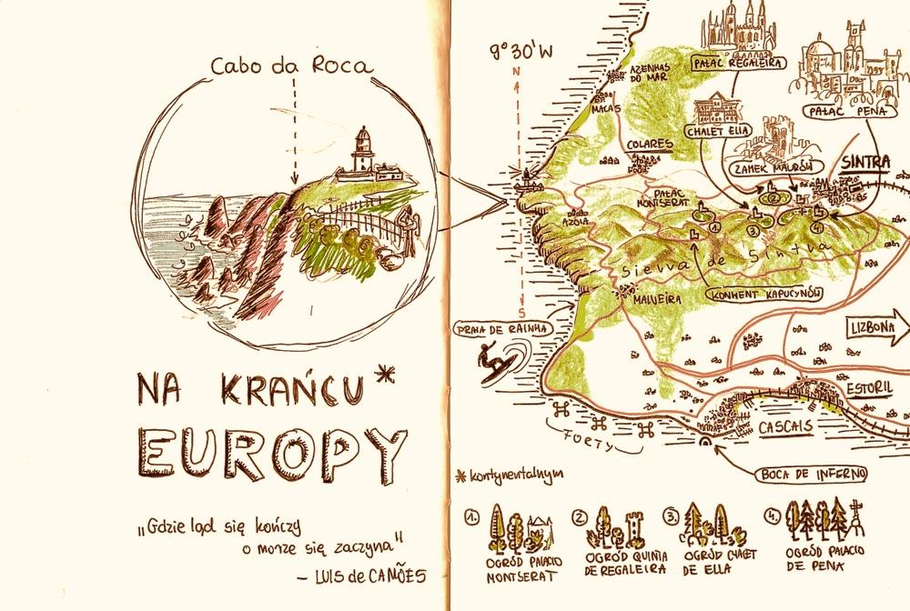 cabo da roca portugalia mapa sintra