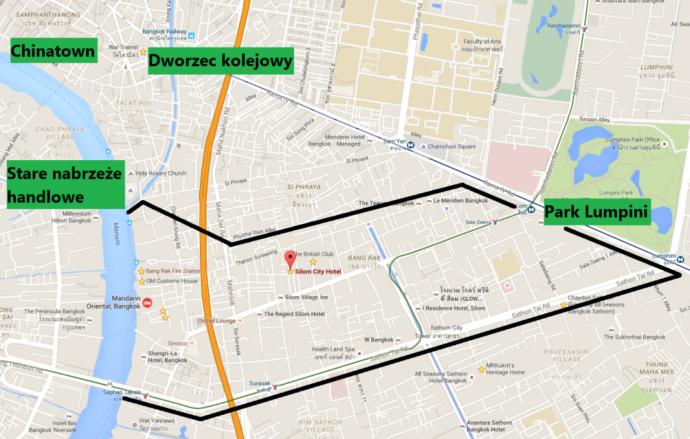 silom bangrakw bangkoku mapa