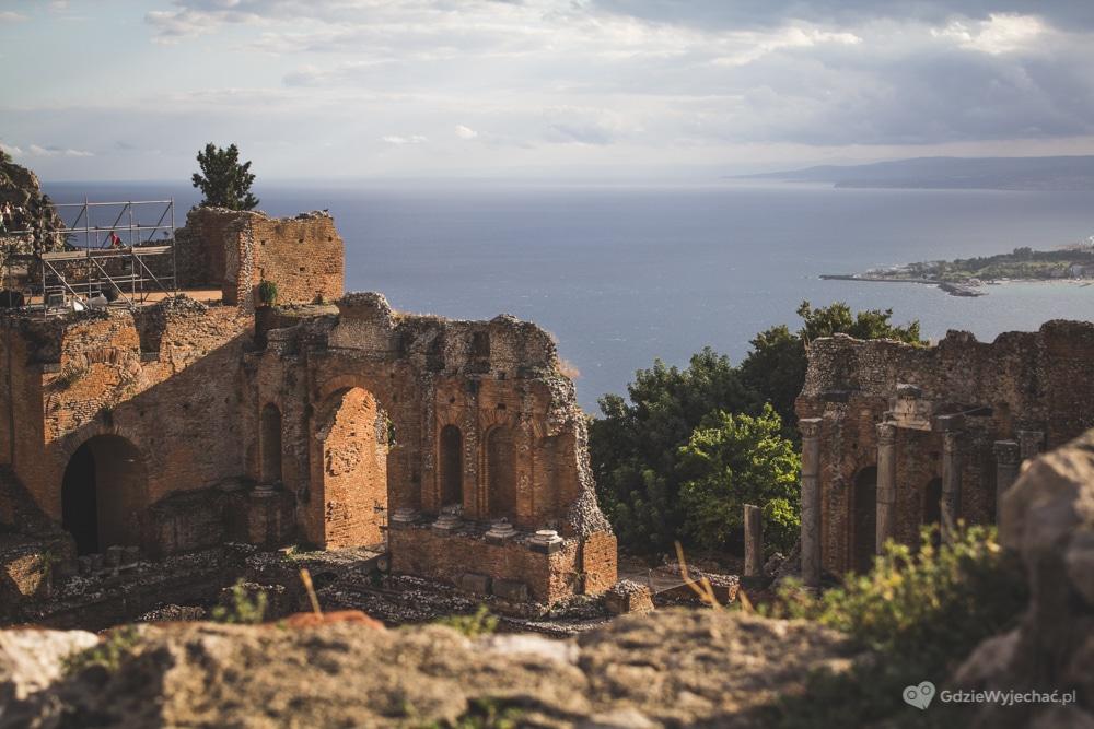Wschodnia Sycylia Jesienią I Taormina Jej Największa Perła